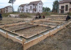 Устройство и строительство фундамента