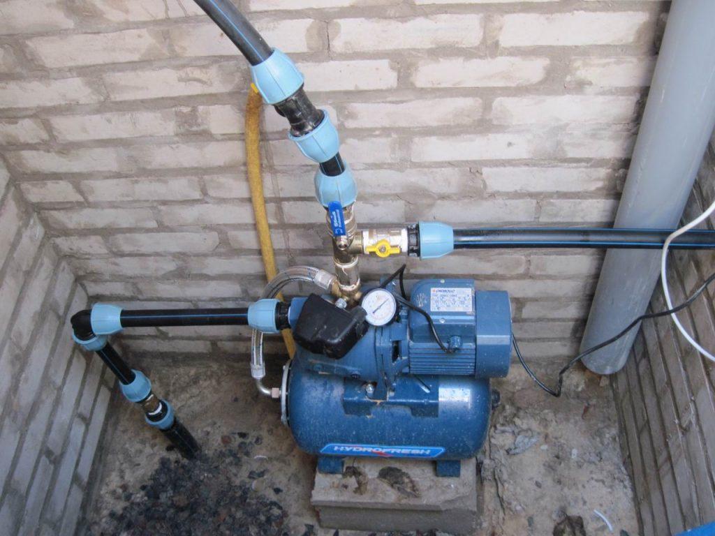 Повышающий насос для водопроводной скважины